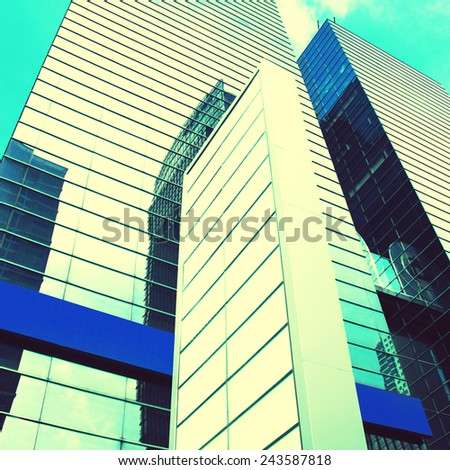 Modern building on a background sky - stock photo