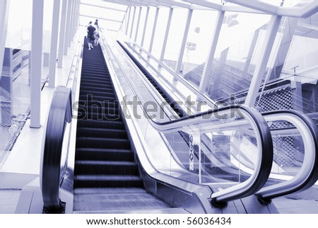Modern building on the escalator