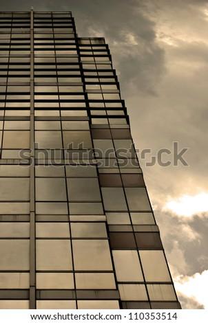 Modern Building Sunset - stock photo