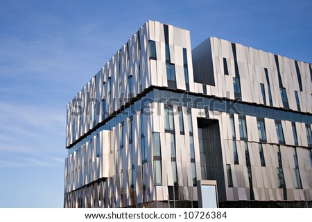 Modern building, The consert hall in Uppsala, sweden - stock photo