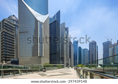 modern buildings and landmark in shanghai - stock photo
