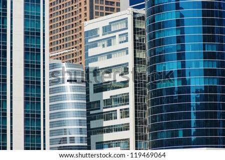 Modern buildings in Dubai, UAE - stock photo