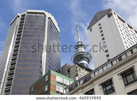 Modern buildings of Auckland city (New Zealand).
