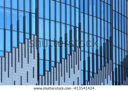 Modern buildings with business center in Kobe city of Japan - stock photo