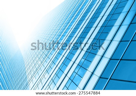Modern business building glass of skyscrapers, Business concept of architecture