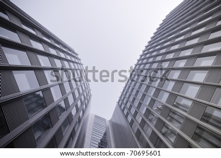 modern business building with reflection