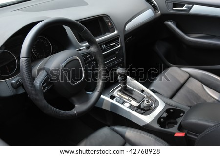 Modern business car interior