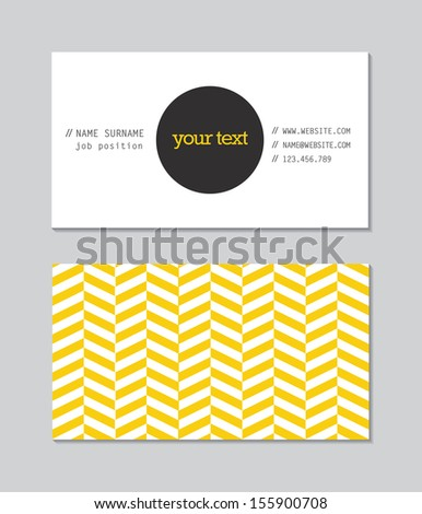 Modern business card template - stock photo