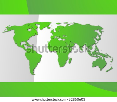 modern business card with copyspace showing global communication - stock photo