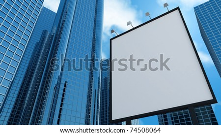 Modern Business Centers and Billboard - stock photo