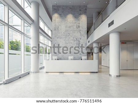 Modern Business Hall Architecture D Concept