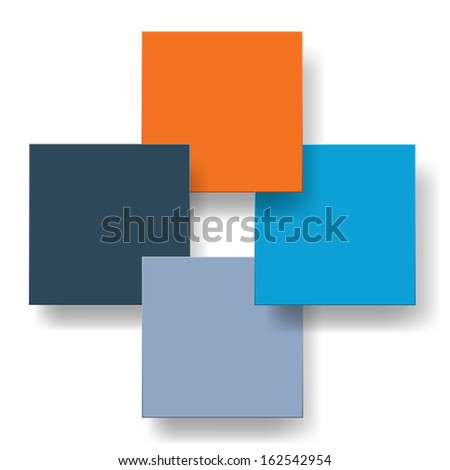 Modern business infographic banners from paper. Raster copy of vector illustration - stock photo