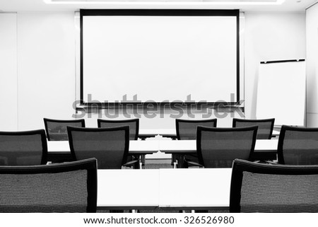Modern business meeting seminar presentation room - stock photo