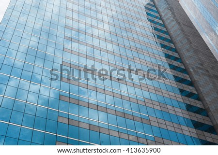 Modern business skyscapers, architecture raising to the sky, futuristic downtown, texture - stock photo