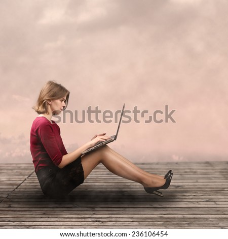 Modern business strategy concept with challenges - stock photo