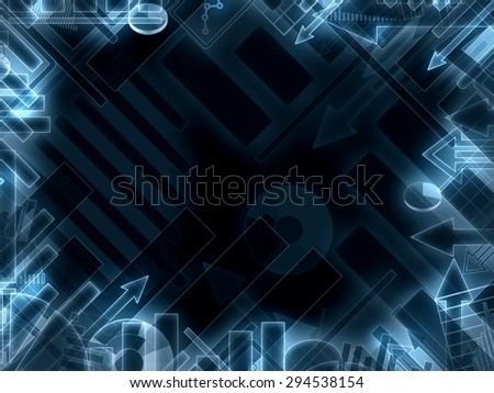 modern business technology background frame illustration - stock photo