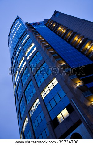 modern business tower at night - stock photo