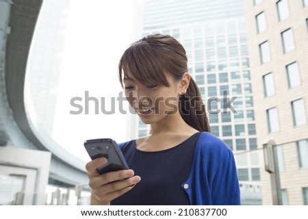 Modern business woman - stock photo