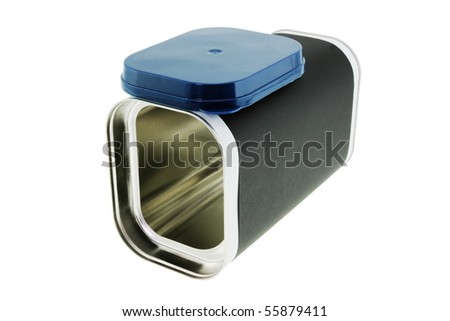 Modern can for dairy drink powder. - stock photo