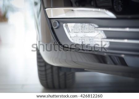 modern car fog light - stock photo