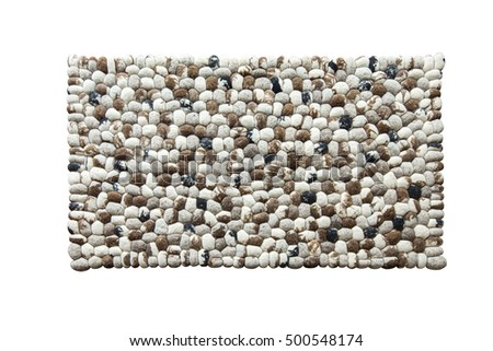 Modern carpet in the form of round stones