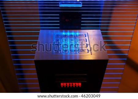 Modern cash dispense - stock photo
