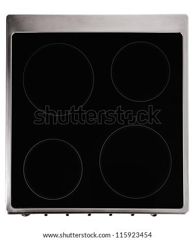 Modern ceramic metal stove - stock photo