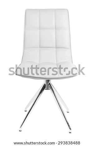 Modern chair isolated on white - stock photo