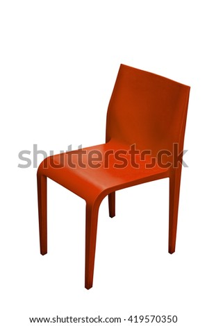modern chair isolated on white background
