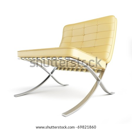 modern chair on a white background - stock photo