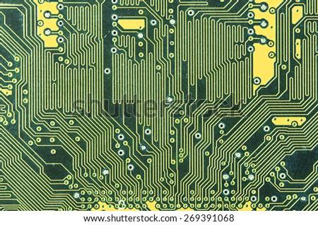 modern circuit board - stock photo