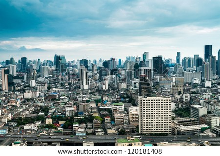 Modern city view of Bangkok, Thailand. Cityscape. - stock photo