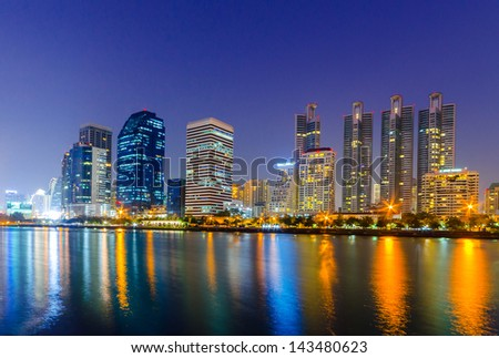 Modern city view of Bangkok, Thailand. Cityscape