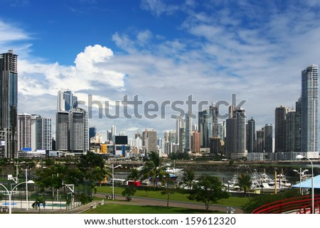 Modern City View, Panama City - stock photo