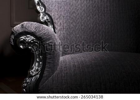 Modern classic luxurious armchair detail  - stock photo