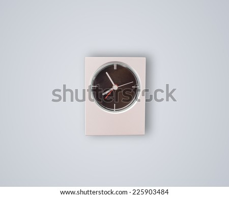 Modern clock showing precise time, hours and minutes - stock photo