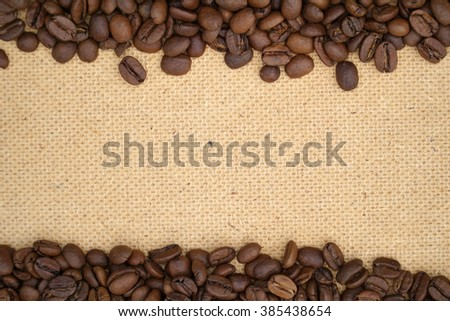 modern close up coffee beans texture background - stock photo