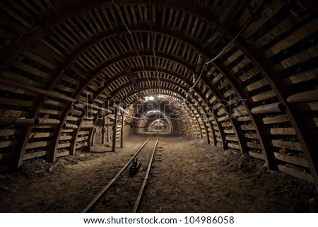 Modern coal mine - stock photo