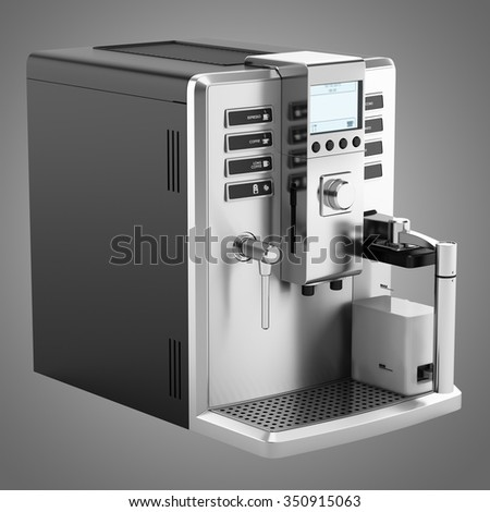 modern coffee machine isolated on gray background