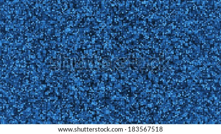 Modern cold blue looking background with squares resembling a data flow. - stock photo