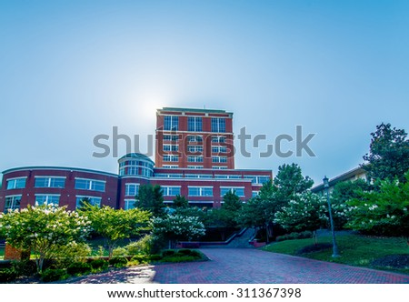 modern college campus buildings - stock photo
