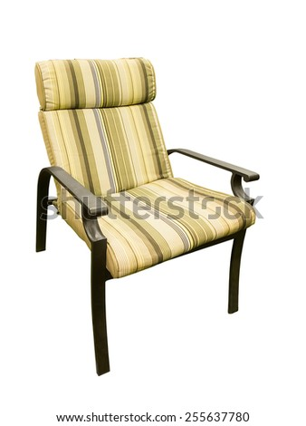 Modern comfortable garden chair isolated on white background - stock photo