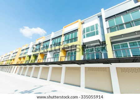Modern commercial building on a beautiful day. - stock photo
