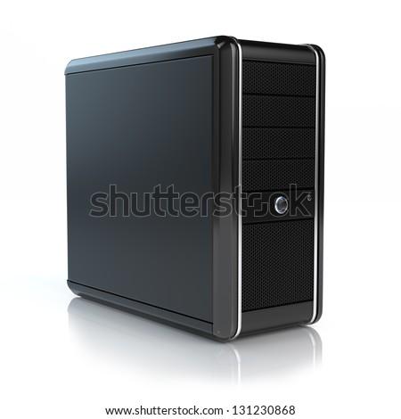 Modern computer - stock photo