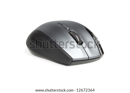 Modern computer mouse isolated over white background