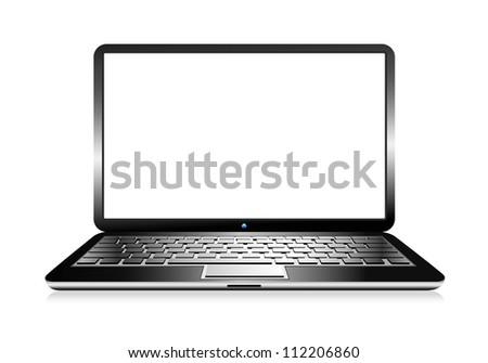 Modern Computer PC Laptop- Raster Version - stock photo