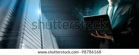 Modern concept of a software programmer - stock photo