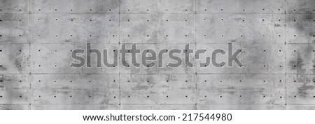 Modern concrete wall. Flat concrete texture. - stock photo
