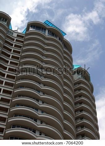 Modern condominium in Asia - stock photo