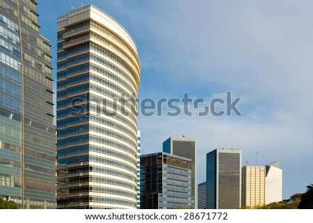 Modern corporate buildings in downtown Buenos Aires, Argentina - stock photo
